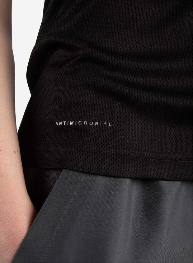 Women's antimicrobial underscrub in black