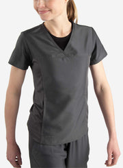 Women's short sleeve underscrub in black with scrub top