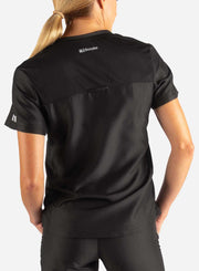 Women's Tuckable Scrub Top in black