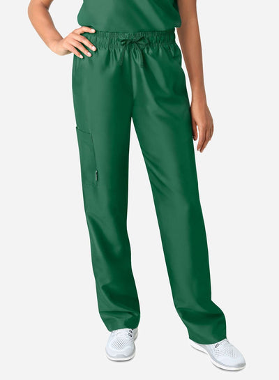 womens simple straight leg scrub pants dark green