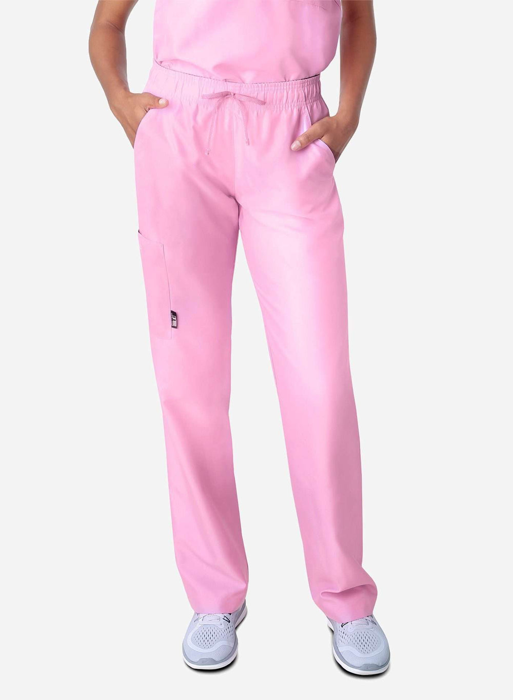 womens simple straight leg scrub pants light pink