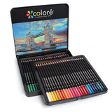 Colore Colored Pencils - 48 Premium Pre-Sharpened Color Pencil Set For Drawing Coloring Pages - Great Art School Supplies For Kids & Adults Coloring Books - 48 Colors
