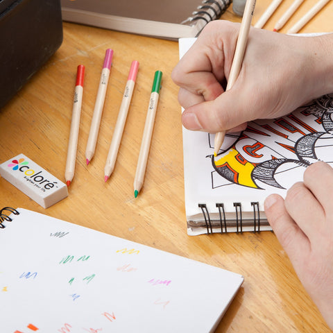 Colore Colored Pencils - For Drawing Coloring Pages - FREE Eraser & Sharpener - 60 Colors