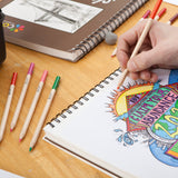 Colore Sketch Pad - 9x12 Spiral Sketchbook - Perfect Art Book For Kids & Artists - 1 Pack