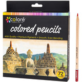 Colore Colored Pencils – 72 Premium Pre-Sharpened Color Pencil Set For Drawing Coloring Books – Great Art School Supplies For Kids & Adults Coloring Pages - 72 Vibrant Colors