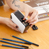 Colore Electric Pencil Sharpener - Battery / USB Powered - FREE 1 Core Sharpener