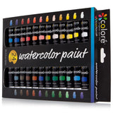 Colore Watercolor Paint Set - Set of 24 Colors