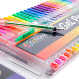 Colore Gel Pens Set of 100 Drawing Art Markers for Adult Coloring Books - Get RARE Colors in Premium Quality Pen Set