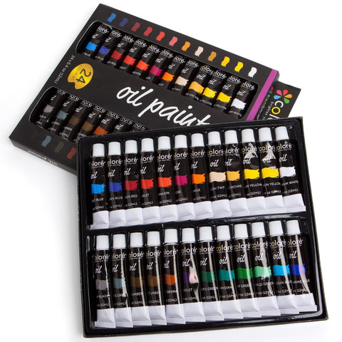 Colore High Quality Oil Paint Set - Set of 24 Colors