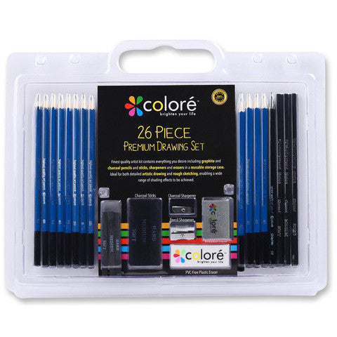 Colore 26 Piece Drawing Pencils Set