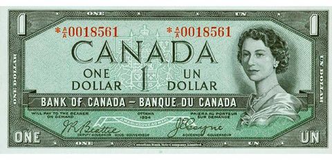 Old Canadian Bank Note