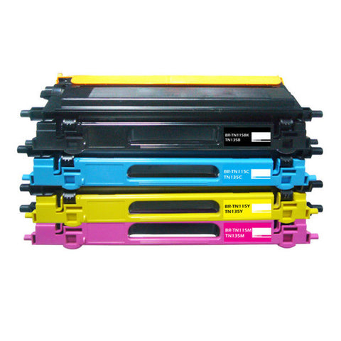 TN115 B C Y M Toner Cartridges