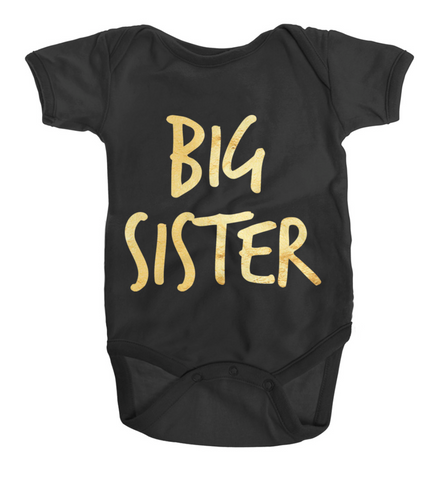 Baby - Bodysuit One Piece Big Sister Gold Baby Tee