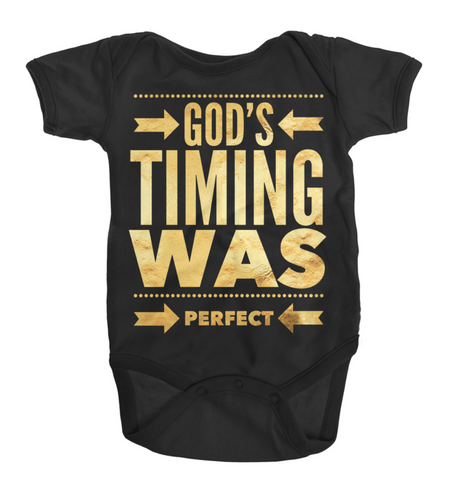 Baby - Bodysuit God's Timing Was Perfect