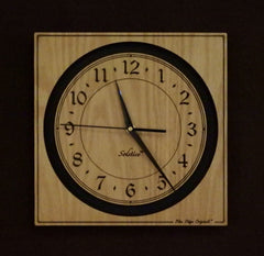 Solstice Clocks in Oak and Walnut