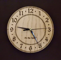Oak or Walnut Orb Clocks