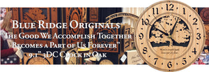 """The good we accomplish together becomes a part of us forever."" An original saying in our Oak 3DC round clock"