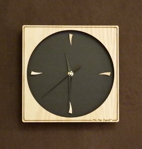 "Eclipse Clock in Oak in 10"" and 12"""