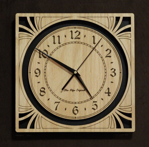"14"" Oak Sunburst Clock"