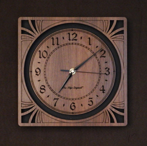 "10"" Walnut Sunburst Clock"