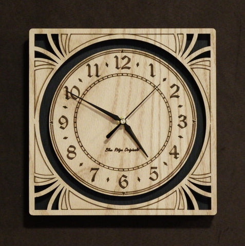 "10"" Oak Sunburst Clock"