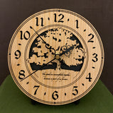 """The Good We Accomplish Together..."" - 3DC Clock in Oak"