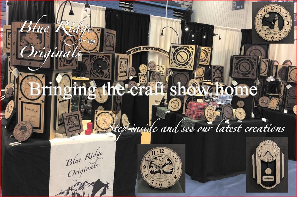 Welcome to Blue Ridge Originals! We offer original laser engraved clocks in Oak and Walnut