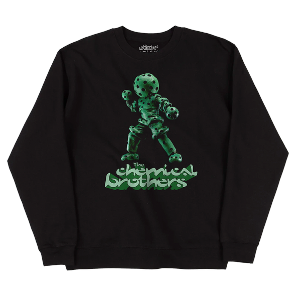 THE GREEN GLOBULE (緑色液球体) BLACK SWEATSHIRT