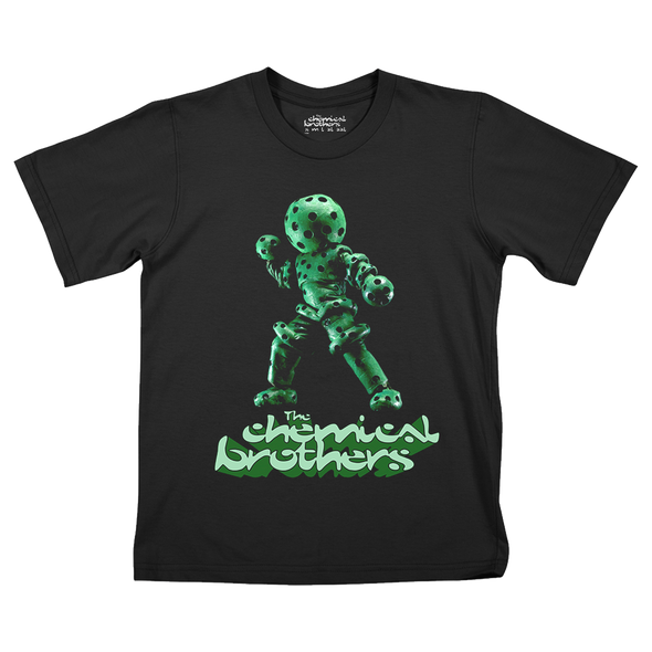 THE GREEN GLOBULE (緑色液球体) CHILDRENS BLACK T-SHIRT
