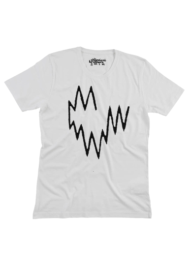 WHITE BORN IN THE ECHOES T-SHIRT