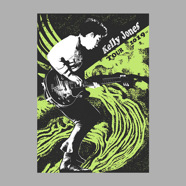 KELLY JONES SPIRAL GREEN A2 POSTER