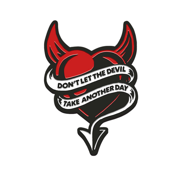 DEVIL HEART ENAMEL PIN
