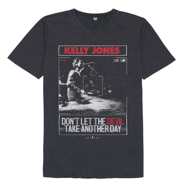 KELLY JONES LIVE STONE WASH BLACK T-SHIRT