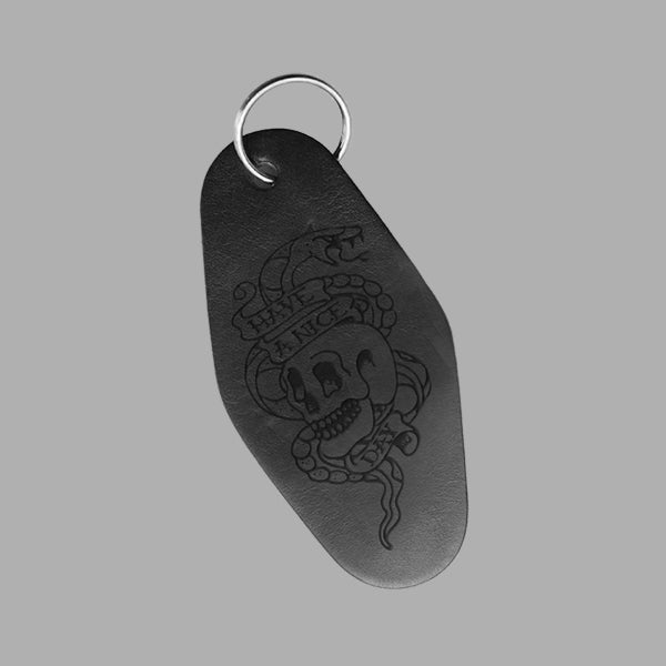 HAVE A NICE DAY BLACK LEATHER KEYRING