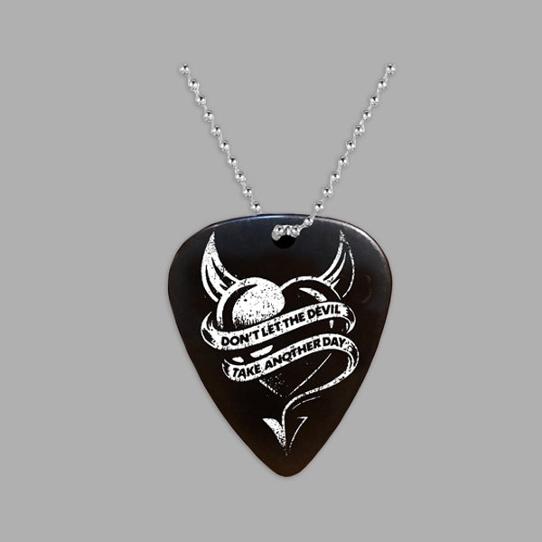 DEVIL HEART PLECTRUM NECKLACE
