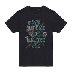 FLORAL UNISEX HEATHER BLACK T-SHIRT