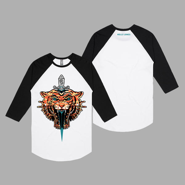 TIGER GRAPHIC BASEBALL T-SHIRT