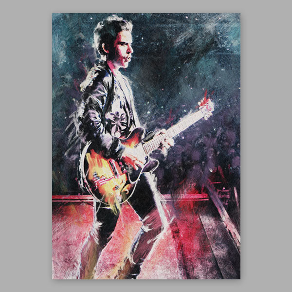 KELLY JONES A2 PAINTED PORTRAIT (SIGNED)