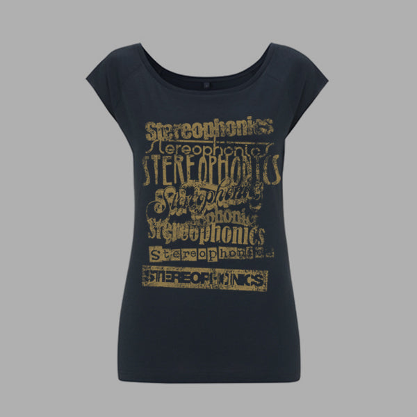 VINTAGE LOGOS GIRLS DENIM T-SHIRT