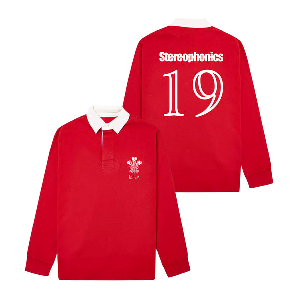 KIND RED RUGBY SHIRT