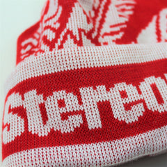 KIND RED BOBBLE HAT