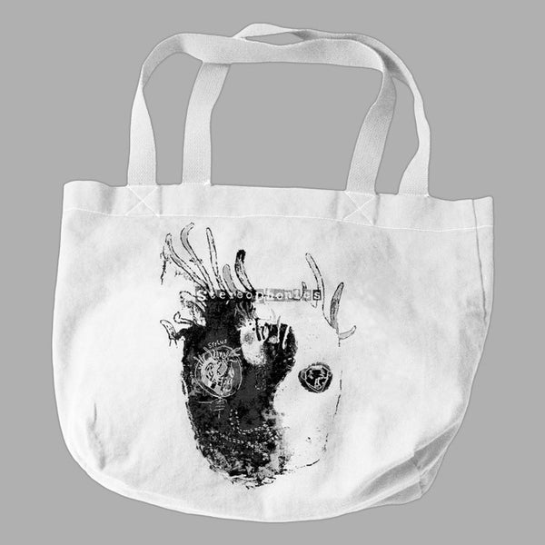 WHITE NANA HEAD TOTE BAG