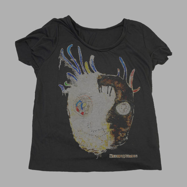 BLACK NANA HEAD LADIES SCOOP NECK T-SHIRT