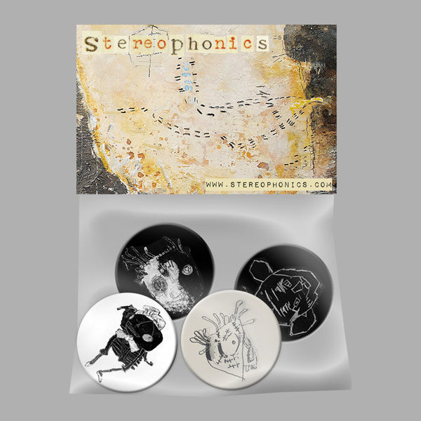 STEREOPHONICS 2013 BADGE SET