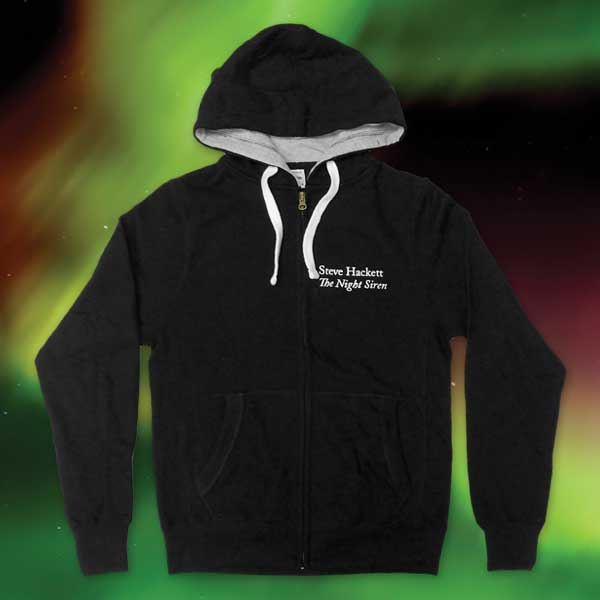 THE NIGHT SIREN BLACK ZIP HOODIE