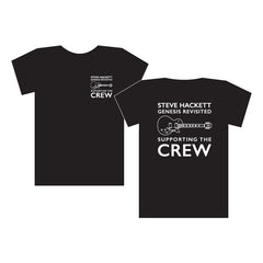 SUPPORTING THE CREW BLACK T-SHIRT