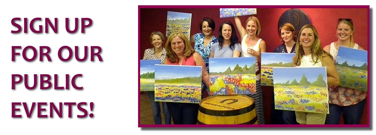 Atlanta wine, paint, canvas