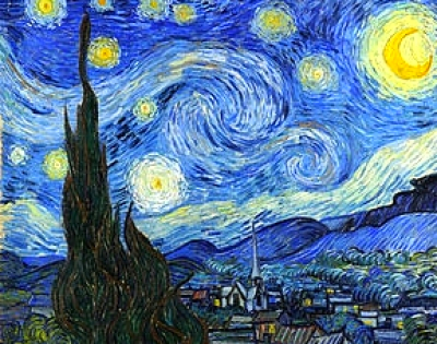 "July 15, 2016, Fri, 7-10 pm, SECRET DISCOUNT ""Starry Night"" Public Wine & Paint Class in Atlanta / Sandy Springs"