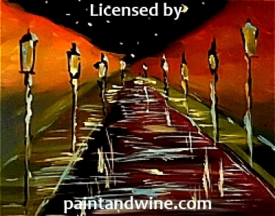 "Sep 5, 2017, Tue, 7-9pm, ""Rainy Road"" Public Wine & Paint Class in Atlanta / Sandy Springs"