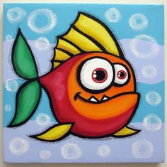 "Sep 30, 2017, Sat, 12-2 pm, Kids Class ""Freddie the Fish"" Public Kids Paint Class in Atlanta / Sandy Springs"